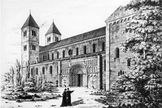 Scots Monastery, Regensburg - View of the church in 1816