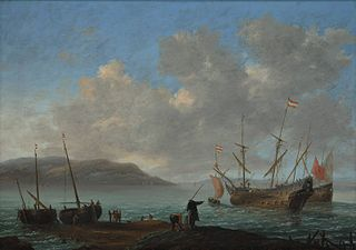 Bay with sailing ships