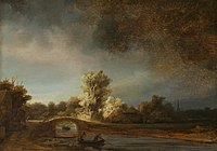 Rembrandt Harmensz. van Rijn - De stenen brug - Google Art Project.jpg