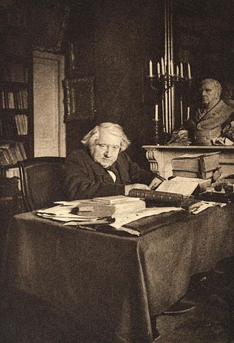 Ernest Renan - Renan in his study in the College of France