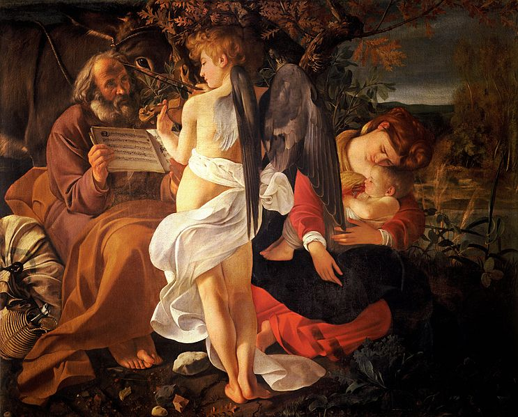 File:Rest on the Flight into Egypt-Caravaggio (c.1597).jpg