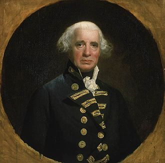 New York and New Jersey campaign - Admiral Richard Howe, from a mezzotint engraving by R. Dunkarton, after the painting by John Singleton Copley