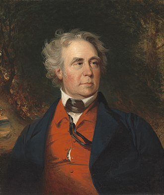 Richard Mentor Johnson - Johnson in 1843, painted by John Neagle, showing the red vest and tie that he wore habitually in later life.