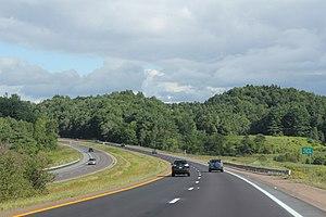 Richmond, Vermont - Entering Richmond on Interstate 89