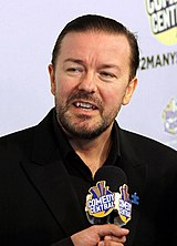 Ricky Gervais at Comedy Central's «Night of Too Many Stars» in 2010.