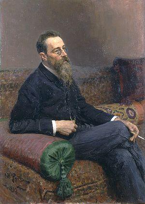 Pyotr Ilyich Tchaikovsky and the Belyayev circle - Portrait of Rimsky-Korsakov by Ilya Repin