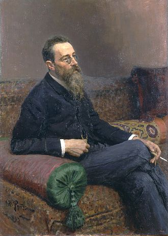 Pyotr Ilyich Tchaikovsky and the Belyayev circle - Portrait of Rimsky-Korsakov by Ilya Repin