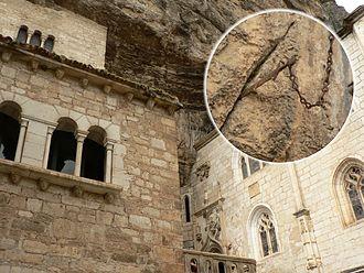 Rocamadour - Alleged fragment of Durandal in Rocamadour