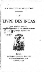 Nicanor della Rocca Vergalo: Le livre des Incas