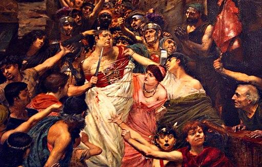 Rochegrosse Vitellius traîné dans les rues de Rome par la populace, 1883 crop