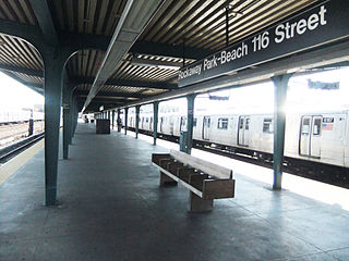 Rockaway Park–Beach 116th Street (IND Rockaway Line) New York City Subway station in Queens