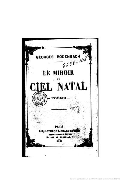 File:Rodenbach - Le Miroir du ciel natal, 1898.djvu