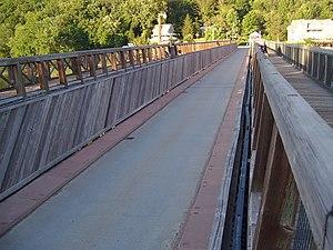Roebling's Delaware Aqueduct - Image: Roebling Bridge interior