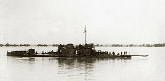Romanian landings in Bulgaria - Image: Romanian Bratianu class monitor in 1917