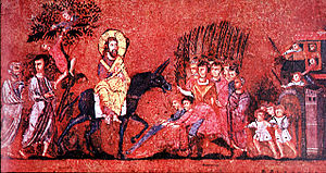 Triumphal entry of Jesus