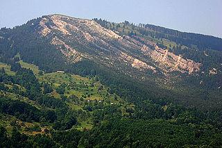 Wildspitz mountain range in Switzerland