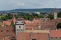Rothenburg ob der Tauber, Stadtmauer, Kummereck, Weißer Turm, Würzburger Tor, 08-2014-003.jpg