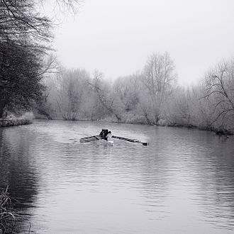 Rowing on the River Thames - Rowing in winter on The Isis