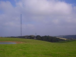 Rowridge transmitting station - Image: Rowridge mast, IW, UK