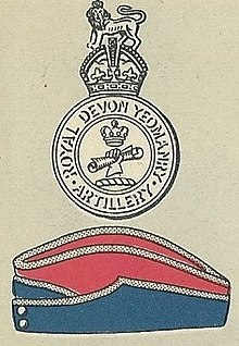 Royal Devon Yeomanry badge and service cap.jpg