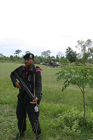 Thahan Phran - Thahan Phran soldier with a HK33A2.