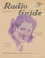 Rudy Vallée on the Cover of Radio Guide, 1933
