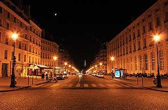 Rue Soufflot - Rue Soufflot at night from place du Panthéon