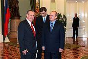 President Putin receives Donald Rumsfeld at the Kremlin in November 2001.