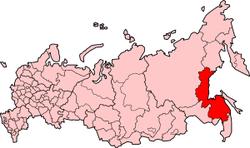 ハバロフスク地方の位置
