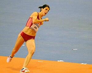 Ruth Beitia during 2008 IAAF World Indoor Cham...