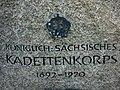 Sächs 02 Dresden Albertstadtkaserne, Detail des Königl.Sächs. Kadettengedenkstein.JPG