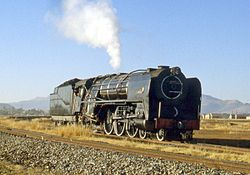 Dampflokomotive in Thaba Nchu