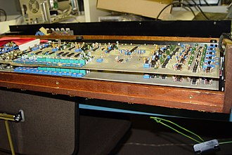Sequential Circuits Prophet-5 - In the Prophet-10, a pair of Prophet-5 sound boards provide ten voices