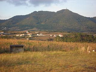Pico Alto (Santa Maria) mountain in Portugal