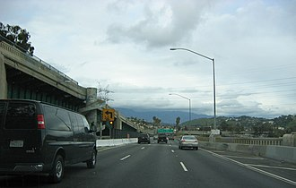 Arroyo Seco Parkway - Northbound over the Los Angeles River