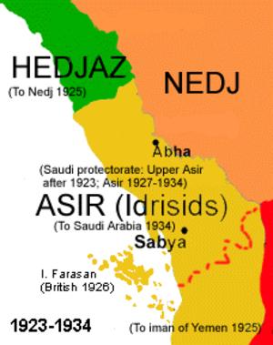 Idrisid Emirate of Asir - Image: Sa mapa 8
