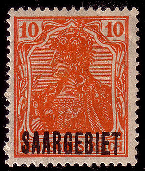 "Postage stamps and postal history of the Saar - Later overprint ""Saargebiet"", 1920"
