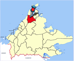 Location of Kota Marudu