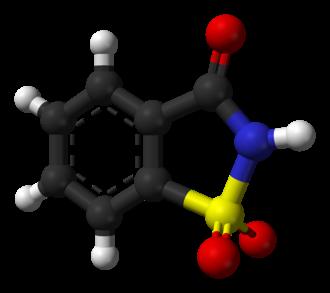 Saccharin - Image: Saccharin from xtal 3D balls