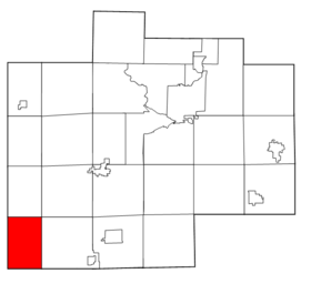Saginaw County Michigan townships Chapin highlighted.png