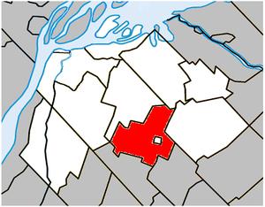 Saint-Aimé, Quebec - Image: Saint Aimé Quebec location diagram