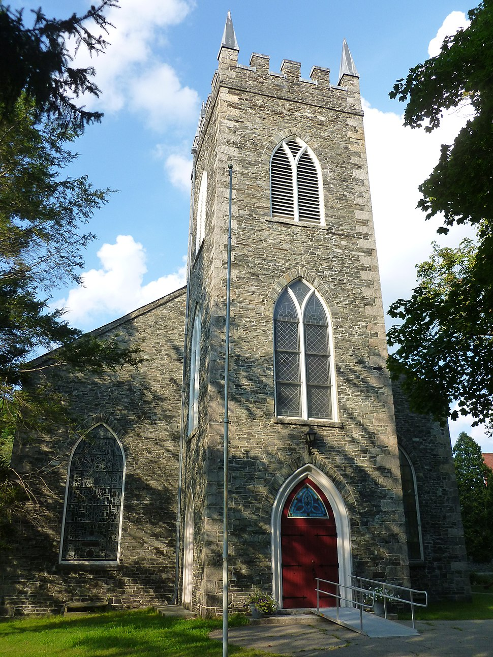 Saint Anne's Episcopal Church; Lowell, MA; south (front) side; 2011-08-20