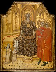 Saint Catherine Disputing and Two Donors