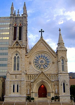 Saint Mary's Cathedral in downtown Austin, Tex...