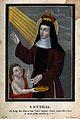 Saint Ottilia. Coloured aquatint by W. Hoffman. Wellcome V0033284.jpg
