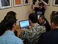 Saint Petersburg Wiki-Conference 2018 ssr14 Lingua Libre testing.jpg