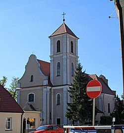 Saints Mary and Nicholas Church in Książ Wielkopolski.jpg