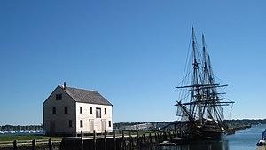 Friendship of Salem - Image: Salem Maritime National Historic Site pier