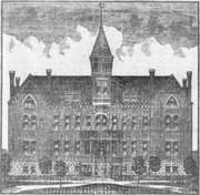Salina Normal University, front-view illustration (1886).png