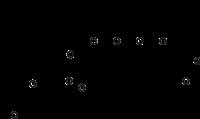Strukturformel von Salinomycin